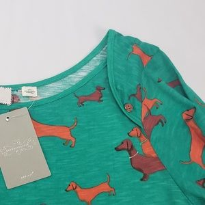 Anthropologie Tops - NWT Anthropologie Postmark Novelty Dog  Shirt